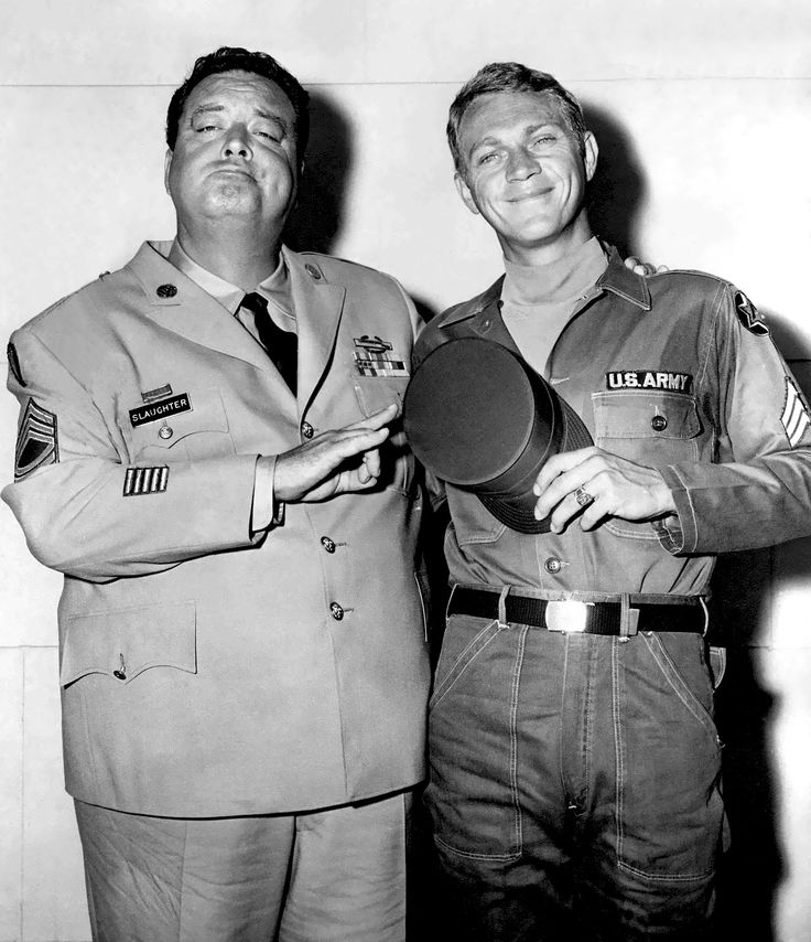 """Jackie Gleason & Steve McQueen - Soldier in the Rain (1963), one of my fave flicks for personal reasons. """"Until that time, Eustis. Until that time ..."""""""