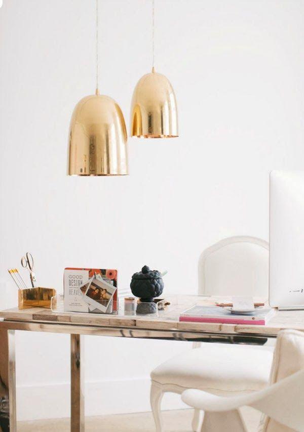 VINTAGE & CHIC: decoración vintage para tu casa · vintage home decor: La oficina (muy femenina) de Erin de Apartment 34 · Erin's Apartment 34 feminine office