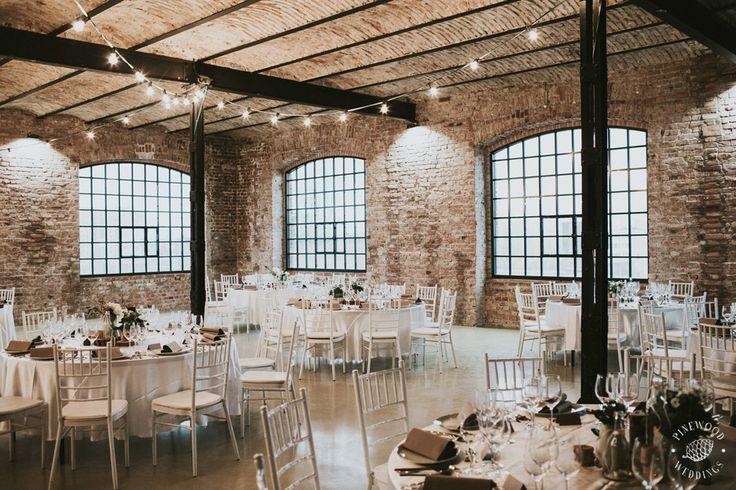 Industrial winter wedding  Pinewood Weddings