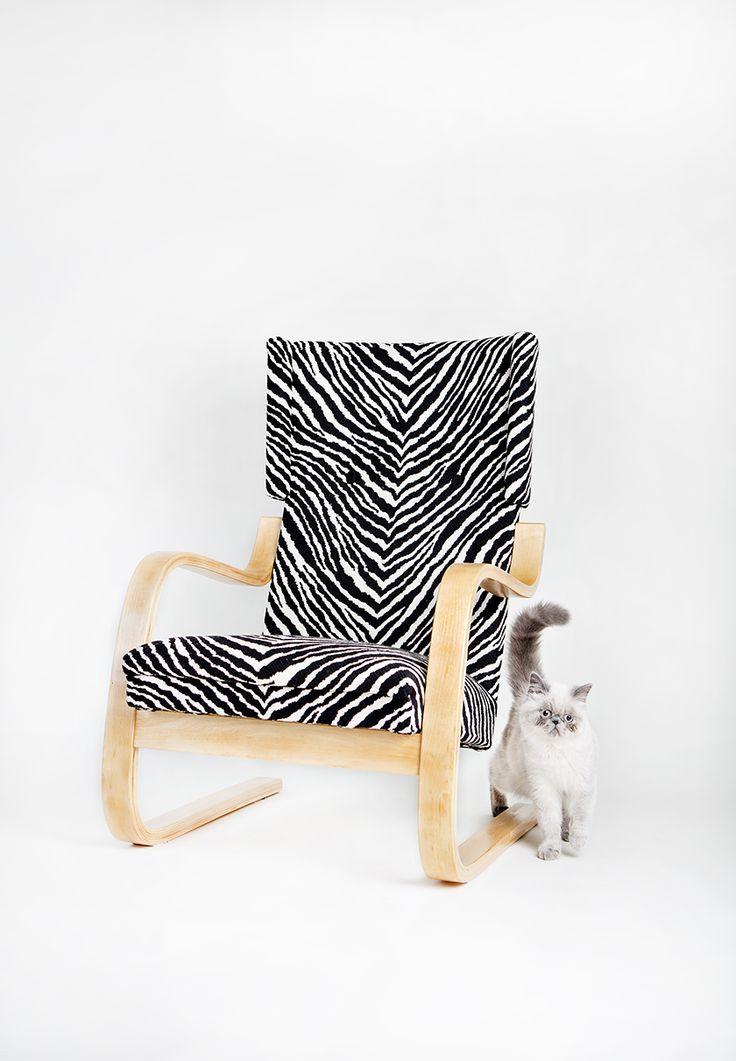 #artek #alvaraalto #401 #artek401 #verhoomo #verhoilu #upholstery #finnishdesign #zebra #verhoomovanhanviehätys