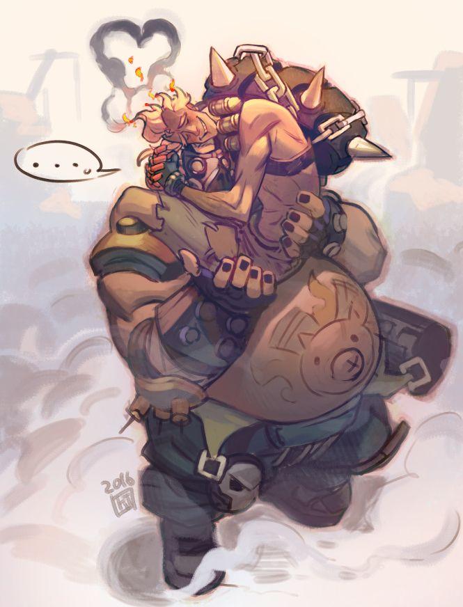 Overwatch Junkrat and Roadhog