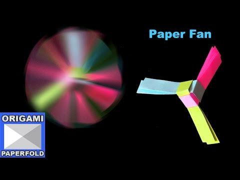 How to Make A Rotating Paper Fan - Origami For Kids - F2BOOK Video 53 - YouTube