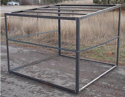 Horse shed frame http://www.hayhorsefeeders.com/horse_shed_kit.html