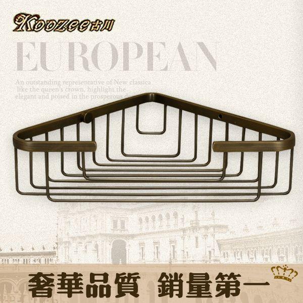 Купить товарФурукава подлинный континентальный полка медь ванная комната металл античная бронзовая подвеска треугольник висит корзины угловой корзина в категории Полки для ваннойна AliExpress.
