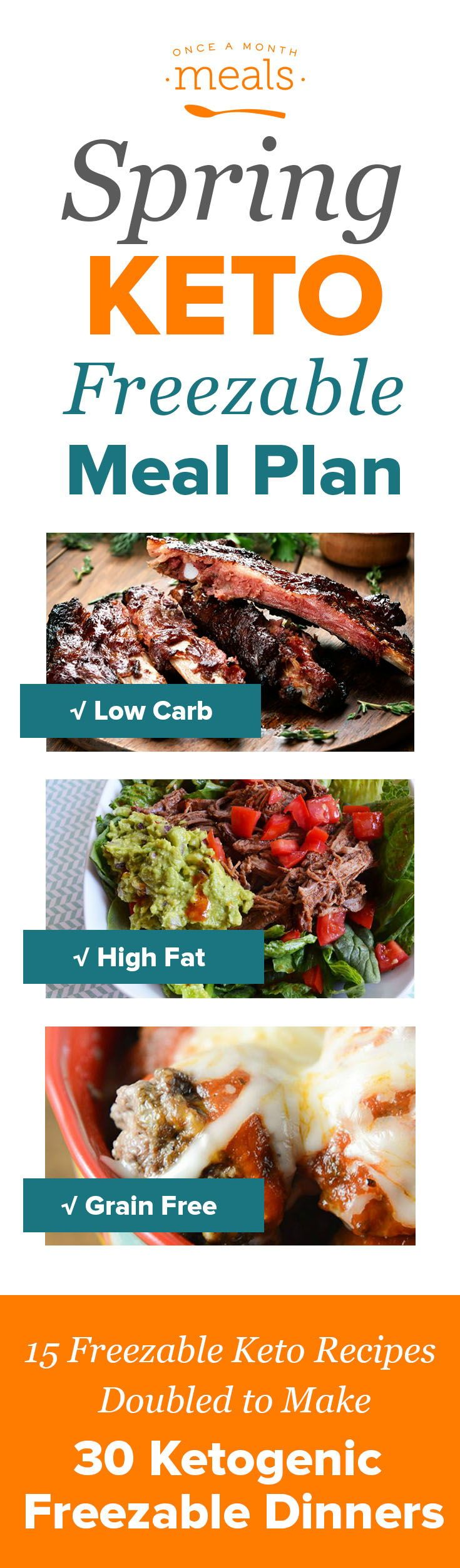 Sink your teeth into these delicious and easy Keto Freezer Meals. With options like Coffee Roast Beef, Chicken Caprese, and Meatball Parmesan, these high fat, low carb, and grain free dinners will sure to please even the pickiest of eaters! #FreezerMeals #Keto #LowCarb