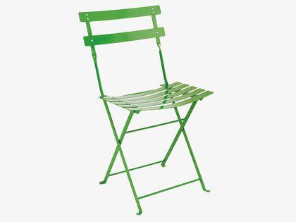 PARC GREENS Metal Leaf green metal folding garden chair - HabitatUK