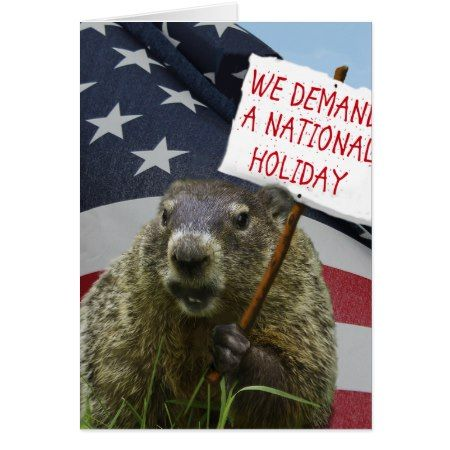 Groundhog Day Card - click/tap to personalize and buy