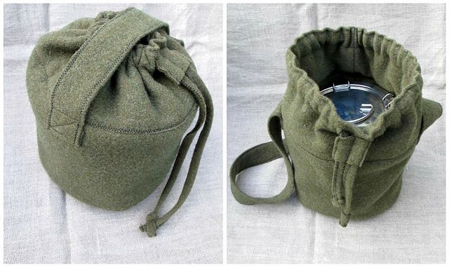 eco lunch boxes: steel and wool by mayalu, via Flickr  Stainless Steel lunch pail with wool bag for insulation