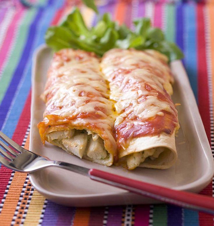Enchiladas au poulet et fromage - Ôdélices : Recettes de cuisine faciles et originales !