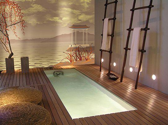 deco salle de bain zen avec toile murale