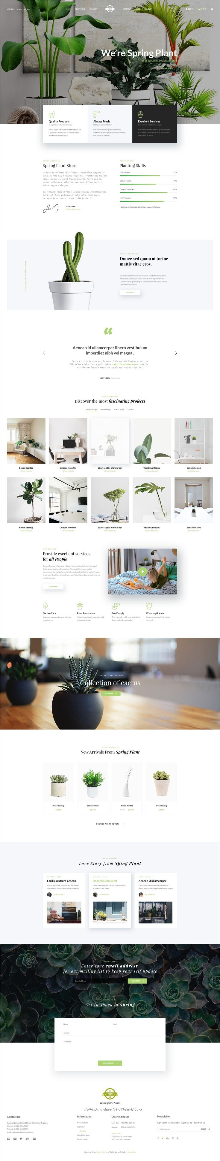 Spring is clean and modern design multipurpose #PSD template for creative #organic store #eCommerce website with 66 layered PSD pages download now..