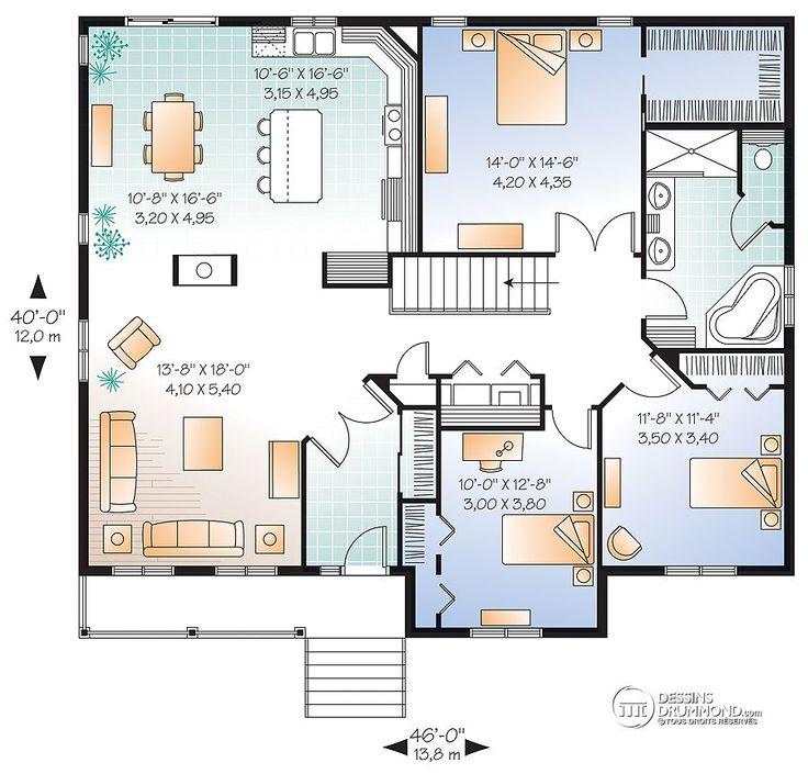 Détail du plan de Maison unifamiliale W2185-V1