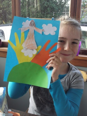 Acsension Sunday School craft