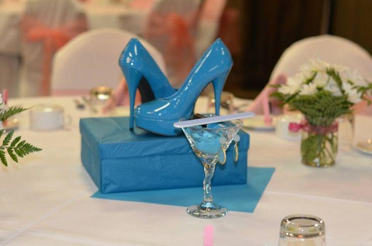 Stiletto shower tini centerpiece gift for the bride