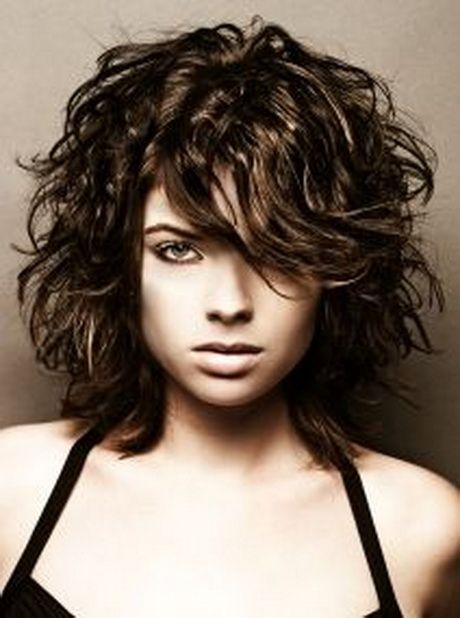 Medium short curly hairstyles