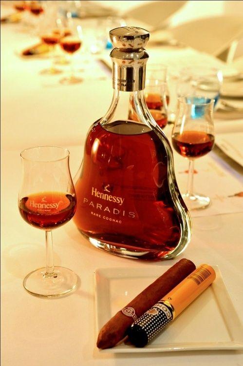 "Hennessy & Cigars...A toast to the Groom.  .www.LiquorList.com ""The Marketplace for Adults with Taste"" @LiquorListcom #LiquorList."