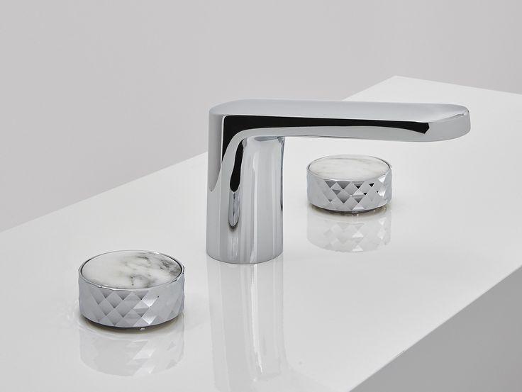 3 Hole Washbasin Tap With Polished Finishing TEXTURE | Washbasin Mixer    FIMA Carlo Frattini