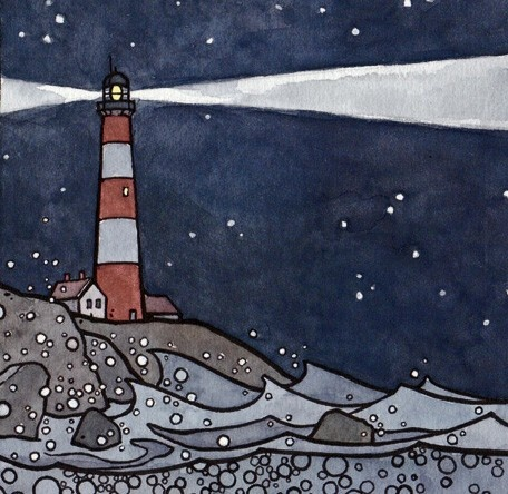 Lighthouse and Whale