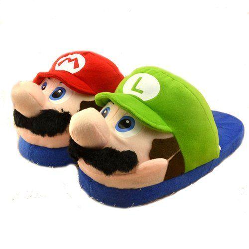 Bacalu® (Erwachsene) Super Mario Brothers Plüsch Hausschuhe Anime Baumwolle Hausschuhe Stuffed Hausschuhe