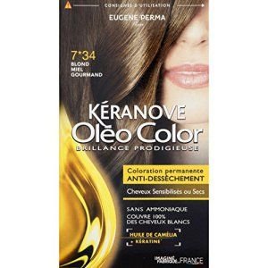 kranove olo color 734 blond miel gourmand coloration permanente sans ammoniaque - Colorant Pour Cheveux Sans Ammoniaque