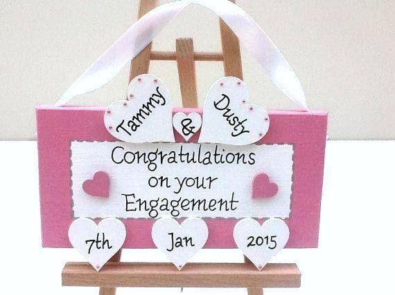 Personalised engagement gift.  Unique Engagement present idea. Personalized engagement Keepsake
