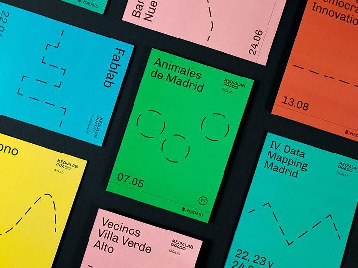 """Tata&Friends para Medialab Prado. Sistema """"escalable"""": una serie de elementos y reglas que permiten que cualquiera lo use y los amplíe según las necesidades+tipografía abierta."""