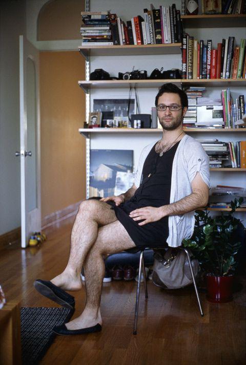 Men wearing girlfriends cloths interesting photography idea