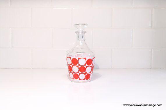 Vintage Bottle Glass Bottle Salad Dressing by ClockworkRummage, $7.00