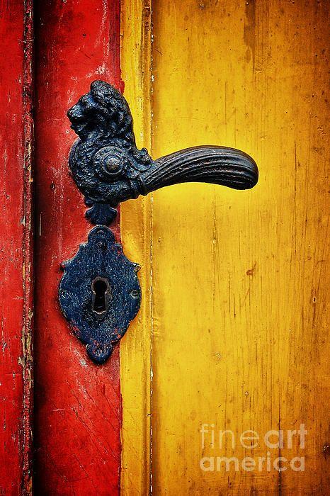 Door Handle ~ door red yellow