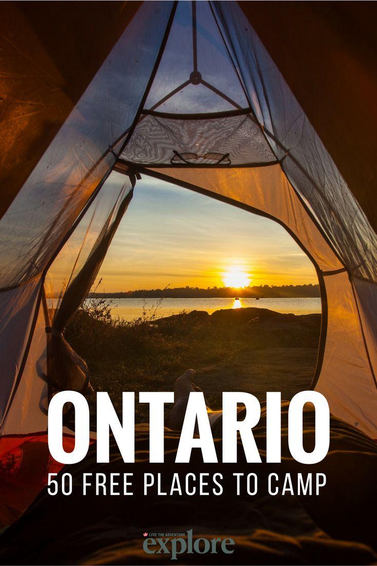 50 Free Places to Camp in Ontario, Canada via Explore Magazine