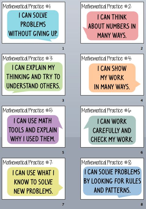 Everybody is a Genius: Kid Friendly Mathematical Practices Posters- Part 2