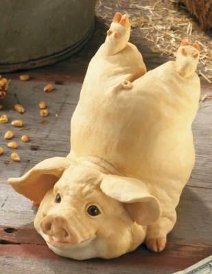 Sculptured piggy bank