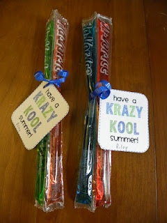 Soooo - this isn't a graduation party idea - but I didn't want to forget where I pinned it because Kassidie will loooove this idea for her students at Carlisle where she has been doing her internship :)    End of the year class gift! CUTE!