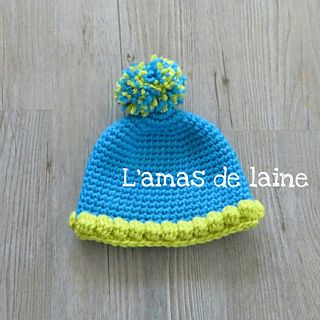 CROCHET PATTERN Bubble rounded baby hat - Little rounded baby hat that you can make. It's  on of the piece in the Bubble collection, that includes a pointed hat and baby booties.