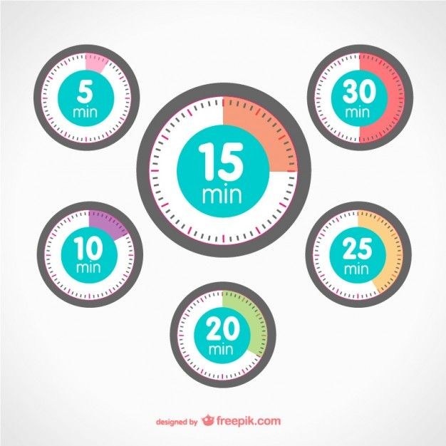 Timer elements Free Vector