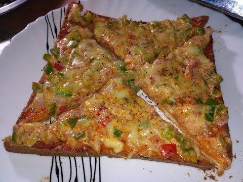 Bread Pizza Recipe   Quick and Easy Bread Pizza   Bread Pizza Recipe by kabitaskitchen - YouTube