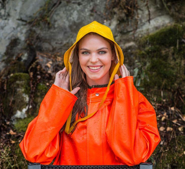 Orange rainwear