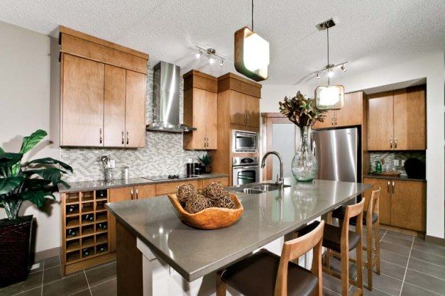 For the Kitchen on Pinterest  Paint colors, Oak cabinets and Islands