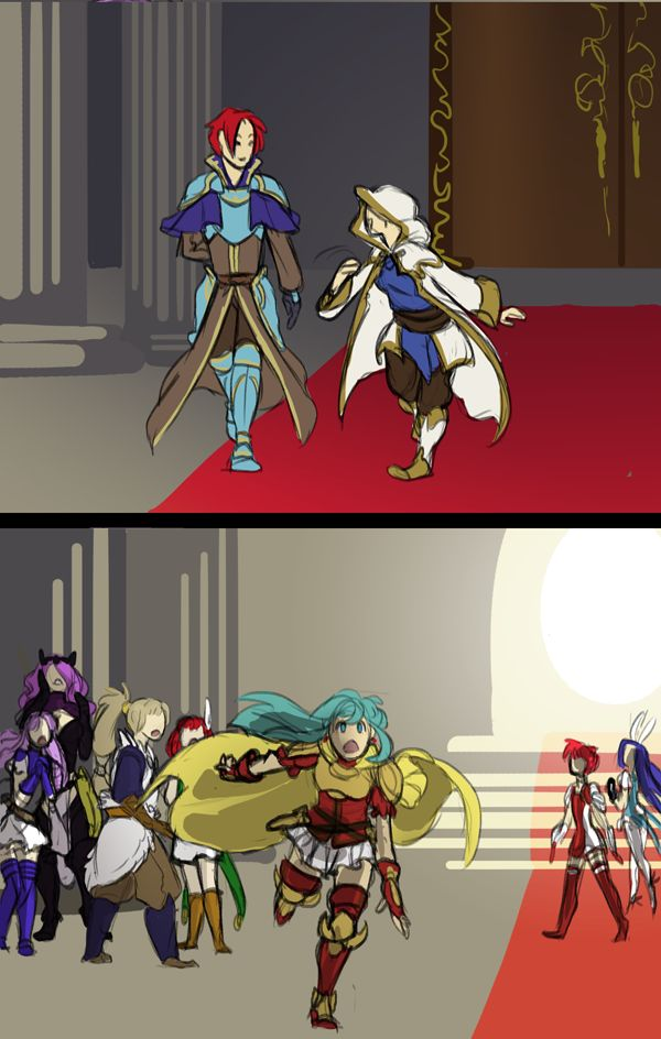 fire emblem heroes fire emblem sacred stones FE eirika FE seth FE8 im so happy ima die seth is already level 27 i want to put them both on a team and name it otp power but idk if i could balance it out fan art   luci-draws.tumblr.com