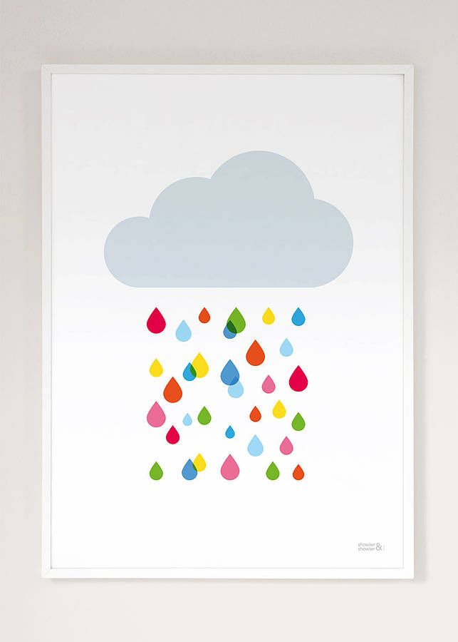 Multicoloured Rain Cloud Print / Showler and Showler