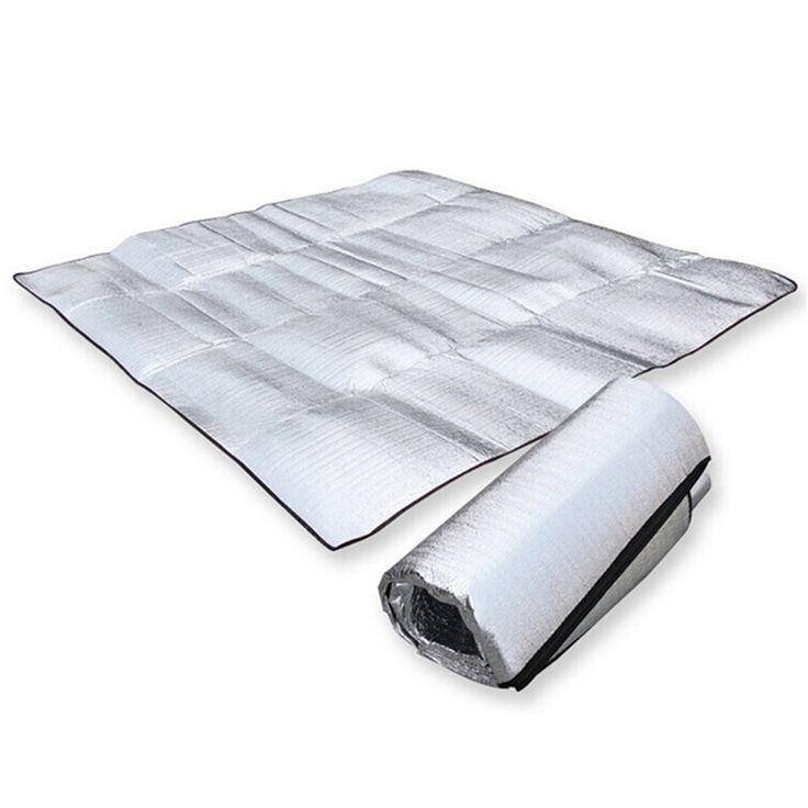 Pliable Pliant de Couchage Matelas Tapis Pad Étanche En Aluminium Feuille EVA Camping En Plein Air Tapis gonflable matelas H1E1