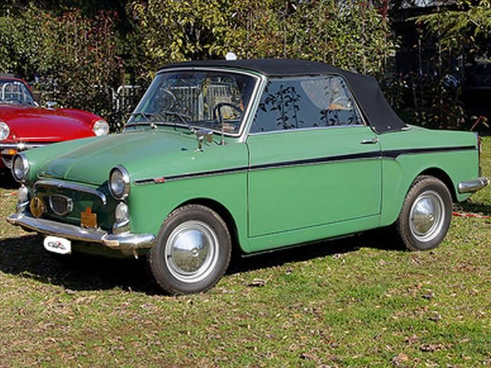 """Country of Origin: Italy   Dimensions: 117.5""""x53""""x52""""  The Bianchina is based on a Fiat 500, as featured earlier in this list. It came in no less than six body styles, and was produced between 1957 and 1970."""