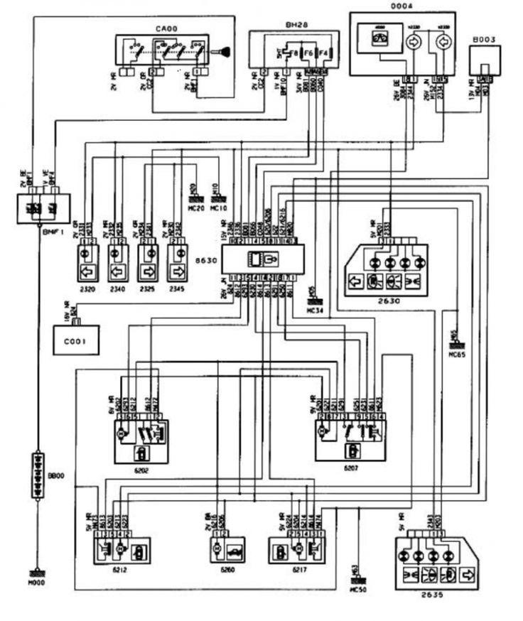 Peugeot 406 Wiring Diagram