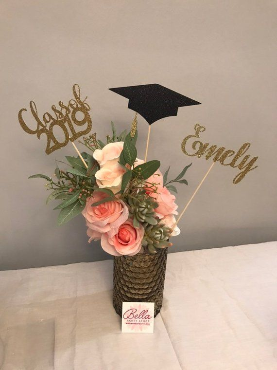Graduation party decorations 2019 Graduation Centerpiece Sticks, Grad ,Cap ,Diploma , class of 2019, graduation decorations, prom 2019
