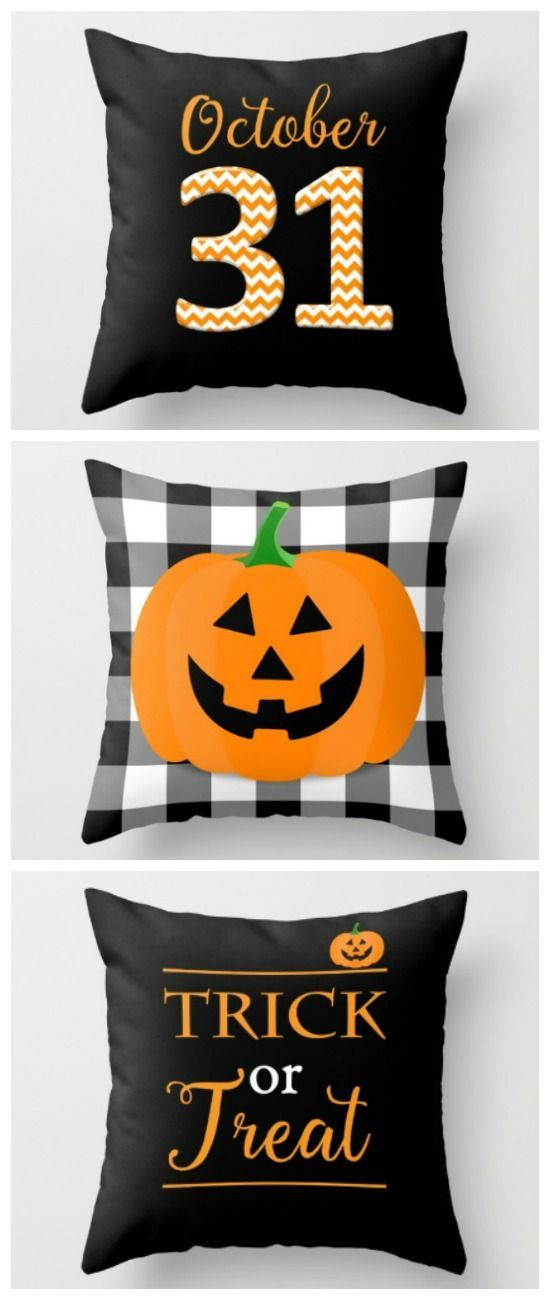 Halloween Pillow Covers from Sutton Place Designs | Easy and festive way to decorate for Trick or Treat! Add them to any fall decor for a punch of Halloween fun.