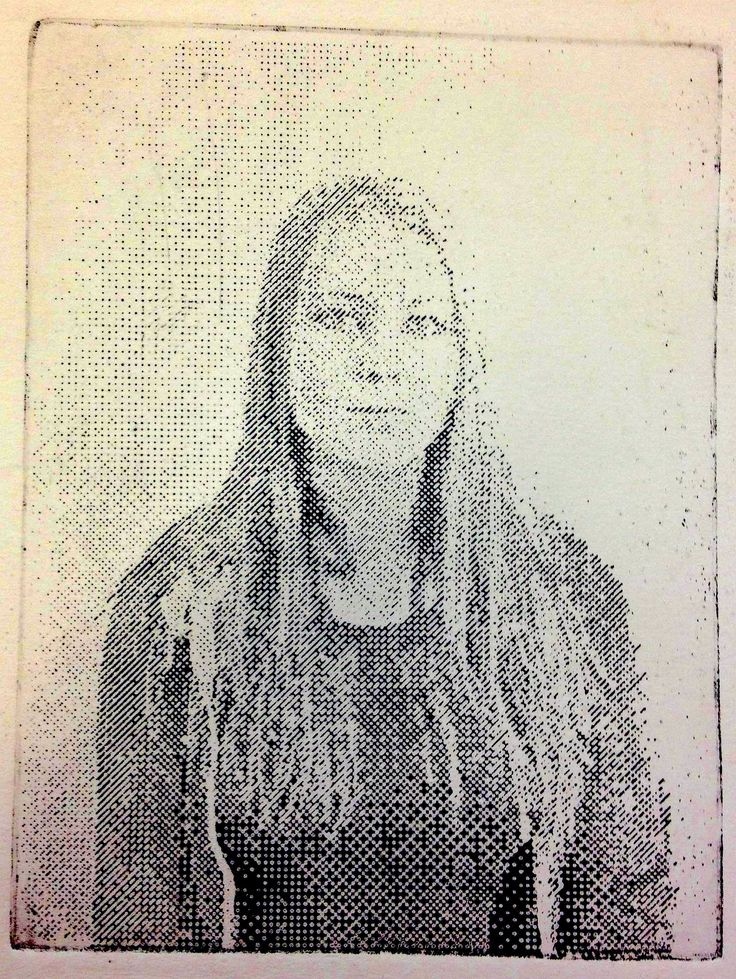 'Twin' identity project by Jenna - etching.  AS Fine Art Truro College Exam final piece 2015