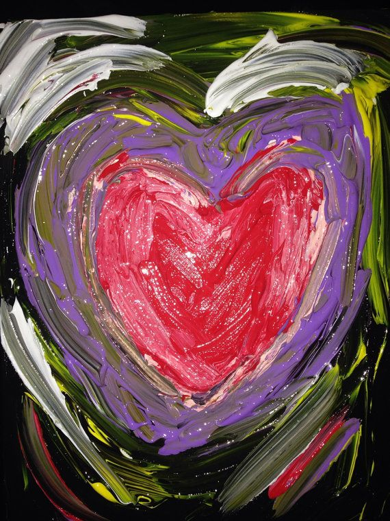 Valentine's Day Heart Painting- https://www.etsy.com/ca/listing/219124434/abstract-hearts-on-canvas-valentines-day?