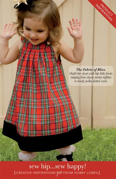 These cute dresses are a little girls dream, and a pleasure to make with the Simplicity patterns from Hobby Lobby.