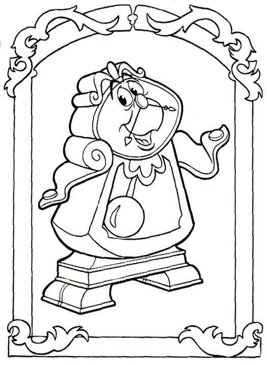 Skønheden og Udyret Tegninger til Farvelægning. Printbare Farvelægning for børn. Tegninger til udskriv og farve nº 26