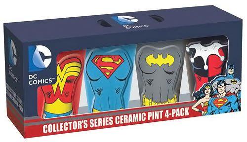DC Comics Female Heroes Molded Ceramic Pint Glasses